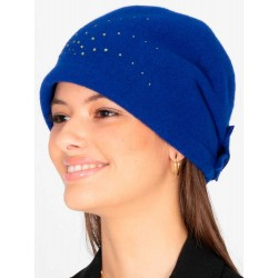 Handmade Wool Cap - Electric Blue - Style Frida - Retro - Vintage