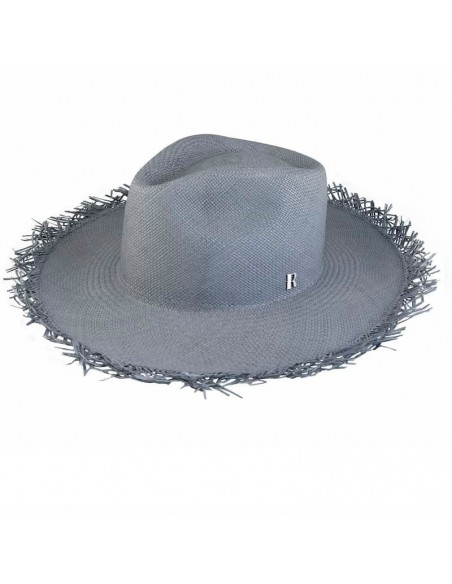 Fringed Panama Hat Grant Ocean - Straw Toquilla - Summer Hats
