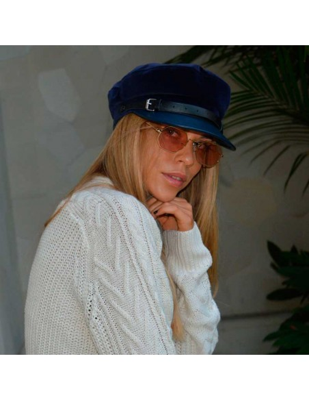 Gorra Chloe de Raceu Atelier azul marino