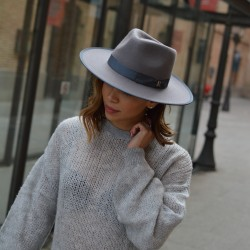 Grey Nuba Hat by Raceu Atelier - Wool Felt Hats