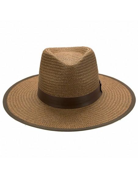 Sombrero Paja Florida Marrón - Sombreros Verano - Estilo Fedora