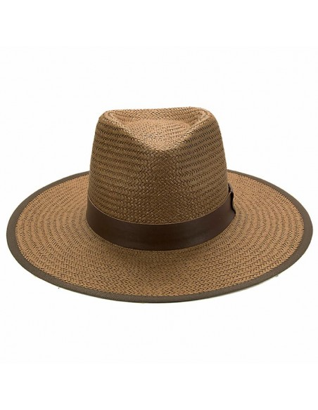 Straw Hat Florida Brown - Fedora Style