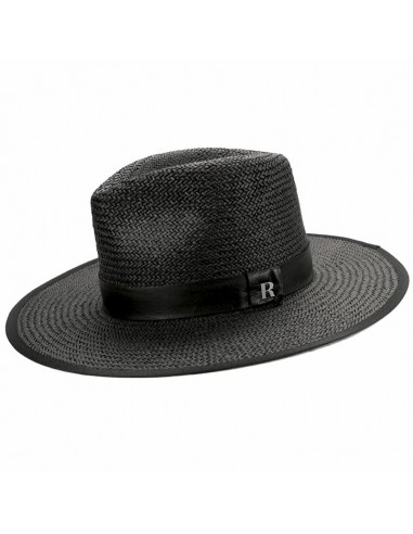 Straw Hat Florida Black - Fedora Style - Summer Hats
