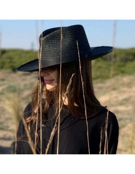 Straw Hat Florida Black - Fedora Style - Summer Hats