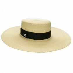 Sombrero Canotier Ala Ancha Paja de Palma - Sombreros de playa