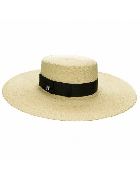 Canotier Murano Wide-Brimmed Black Ribbon