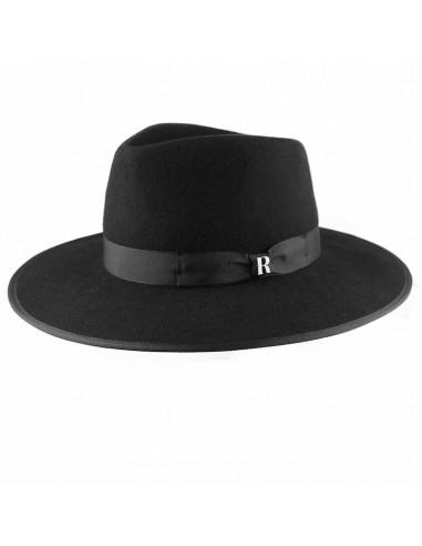 Sombrero Nuba Negro Raceu Atelier - Sombreros 100% Fieltro de Lana