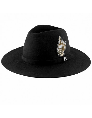 Black Salter Hat - Fedora Wool Felt for Women