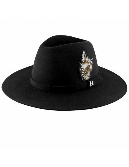 Black Salter Hat - Fedora Wool Felt for Women