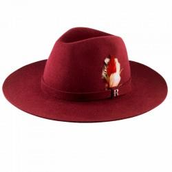 Sombrero Salter Burdeos Fedora Fieltro de Lana