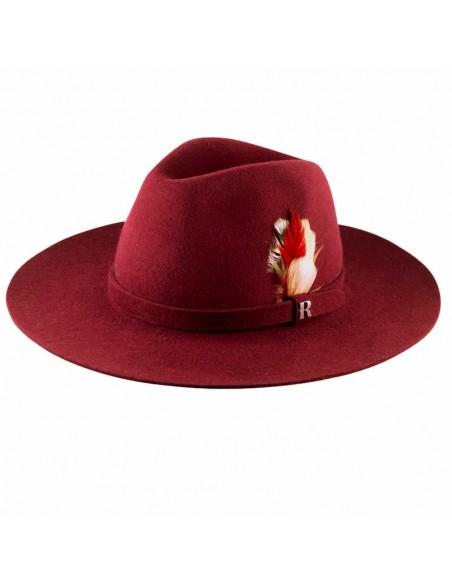 Sombrero Fedora Mujer Salter Fieltro de Lana Burdeos