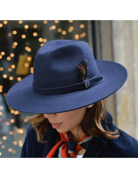 Sombrero Salter Azul Marino Raceu Atelier - Fedora Fieltro de Lana