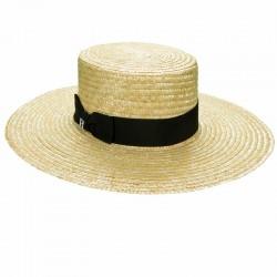 a8605266557f97 Straw Hat Saint Tropez - Canotier Wide Brim - Summer Hats ...