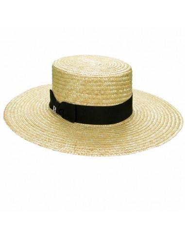 Sombrero Paja Saint Tropez - Canotier Ala Ancha - Sombrero Verano