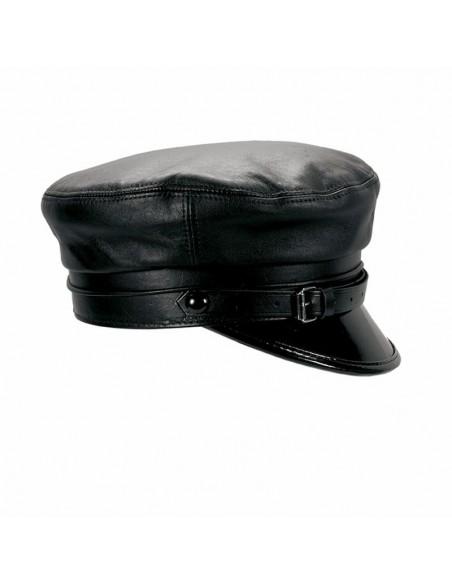 Gorra Mujer Cali en Piel color Negro - Gorras Marinera Mujer