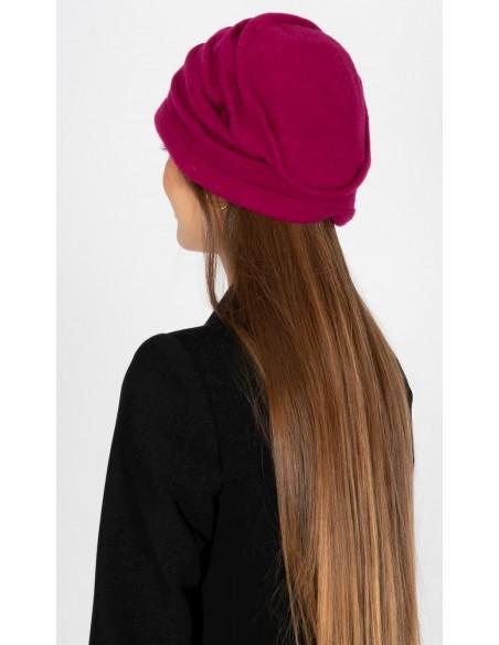 Wool Caps Handmade Raspberry - Style Adela