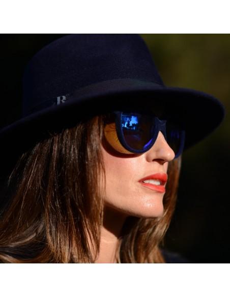 Sombrero Fedora Mujer Azul Marino London