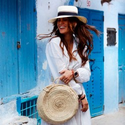Straw hat acapulco white