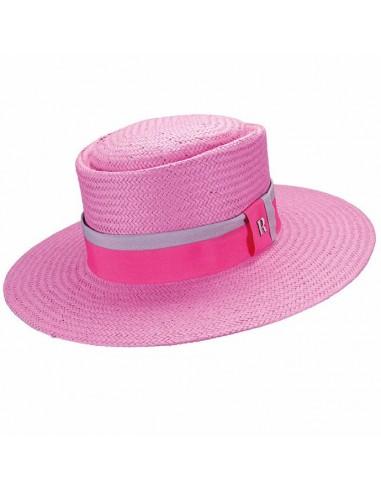 Straw hat acapulco rosa