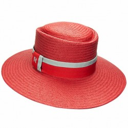 Straw hat acapulco red