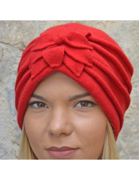 Giorgia Turban red
