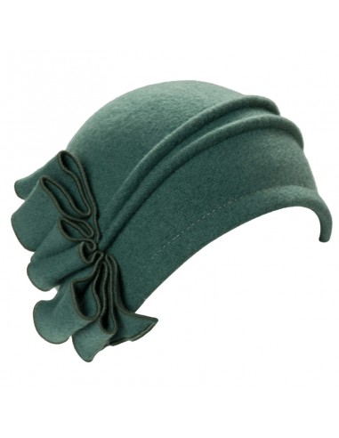 Cloche 1920's Green Michaela by Raceu Hats