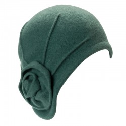 Wool Hat Margo green