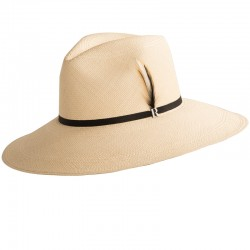 Women Panama Hat Eva Wide Brim Natural - Genuine Panama Hats