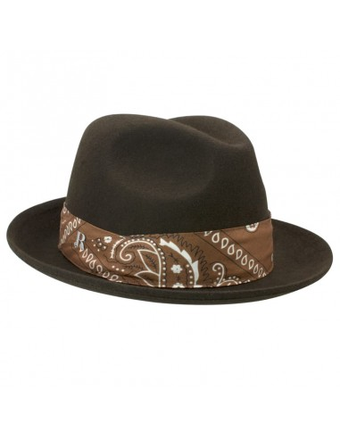 26e7202e2819e Mission Hat Brown - Fedora Wool Felt Unisex - Raceu Hats Online