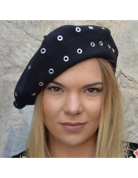 Black Beret French Style - Parisian Touch