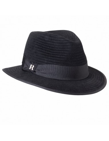 Sombrero Mujer Harlem Negro Ala Corta