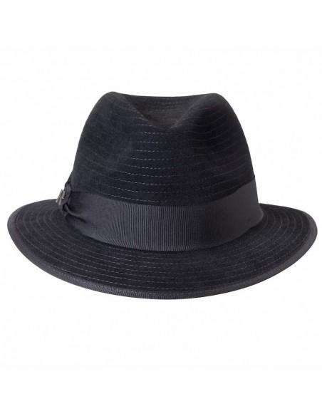 Sombrero Harlem Negro de Raceu Atelier - Ala Corta