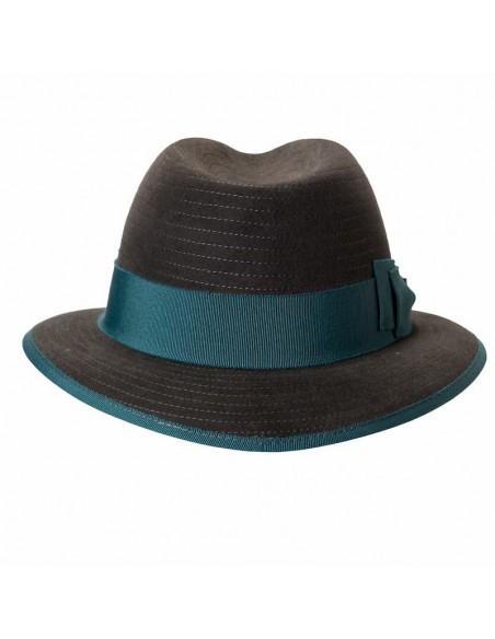 Dark grey Harlem hat by Raceu Atelier