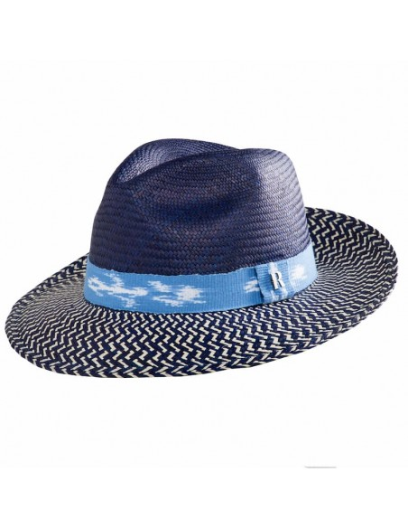 Panama Hat Twist Blue - Women's Hats
