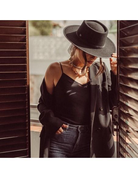 Sombrero Billy Negro Estilo Cowboy