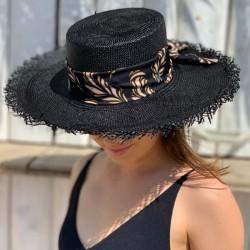 Sombrero Panamá Mujer - Paja de Toquilla - Color Negro
