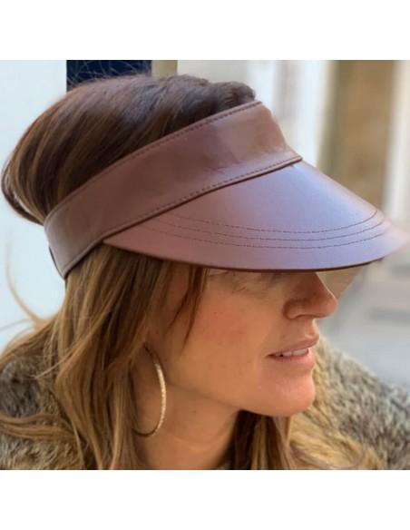 Visor Shady Leather Brown - Women Visor Caps