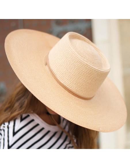 Sombrero Amplio de Mujer en color Arena - Sombreros Mujer Verano