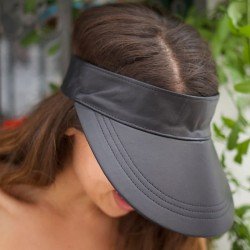 Visor Shady Leather Black - Women Visor Caps