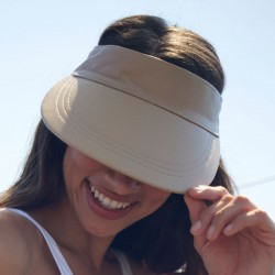 Visor Shady Leather Beige - Women Visor Caps