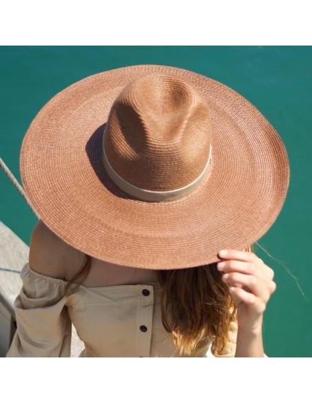 Sombrero Verano Mujer Color Café - Estilo Fedora