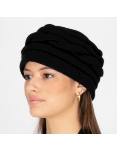 Vintage Wool Hat Alessia Black - Style Alessia - Women Caps - Retro Hats