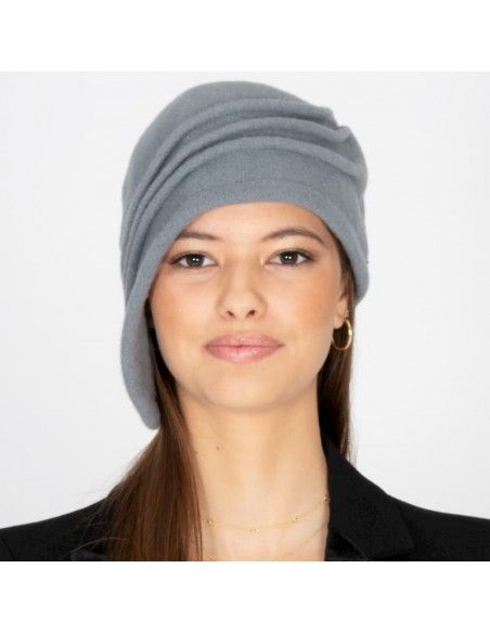 Gorro Lana Vintage Gris Hecho a Mano - Style Laura - Downton Abbey