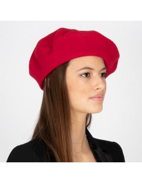 Boina de Lana Veronica Roja - Boinas Mujer Fieltro de lana