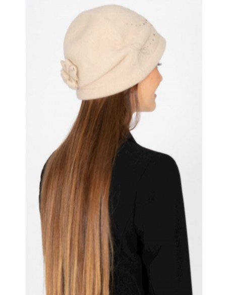 Retro Wool Boiled Hat Beige (Style Retro & Vintage)