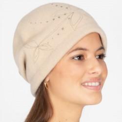 Retro Wool Boiled Hat Beige (Style Retro & Vintage)