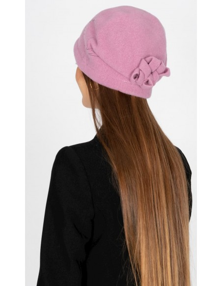 Gorro de Lana Retro Años '20 Rosa - Style Inga - Sombreros Mujer Vintage
