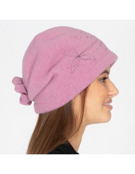 Retro Wool Boiled Hat Pink (Style Retro & Vintage)
