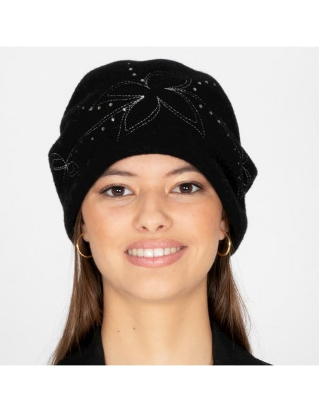 Retro Wool Boiled Hat Black (Style Retro & Vintage)