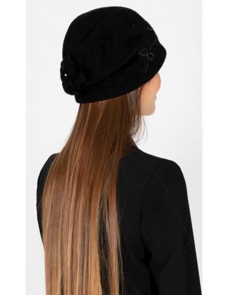 Gorro de Lana Retro Años '20 Negro - Style Inga - Sombreros Mujer Vintage